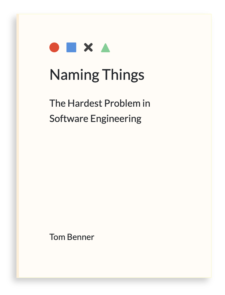 Why we need a book about naming